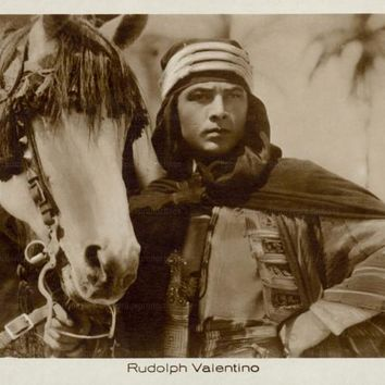 Rudolph Valentino, vintage photo, digital giclee print reproduction