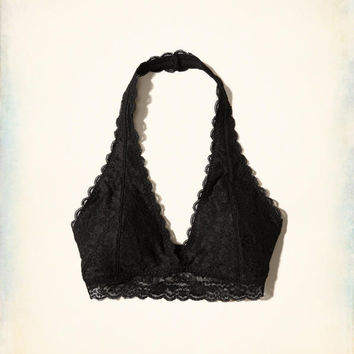 Gilly Hicks Removable-Pads Lace Halter Bralette | Gilly Hicks Bralettes | HollisterCo.com