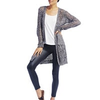 Long-Length Open Knit Cardigan | Wet Seal