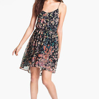 Lush Cutout Ruffle Chiffon Dress | Nordstrom
