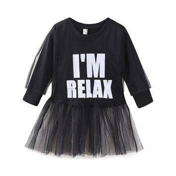I'm Relax - Lace Chiffon Dress For Girl - Baby Kid Child Toddler Newborn