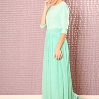 Custom Bridesmaids dress - made to order maxi dress -  Modest dress with sleeves