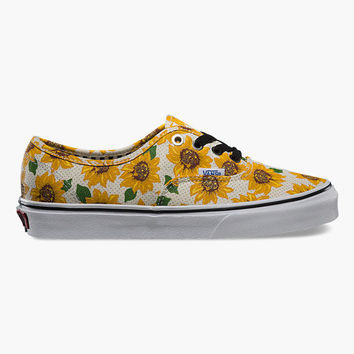 Vans Sunflower Authentic Womens Shoes True White  In Sizes
