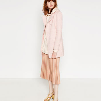 LONG BLAZER WITH CROSSOVER NECKLINE - BLAZERS-WOMAN | ZARA United Kingdom