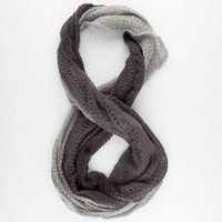 Ombre Knit Infinity Scarf Grey One Size For Women 22311811501
