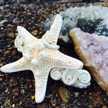NYMPHISH Hair Barrette STARFISH MERMAID real starfish terrarium seaweed hair piece hair accessory mermaid hair mermaid costume