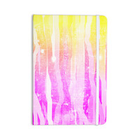 "Frederic Levy-Hadida ""Jungle Stripes Pink"" Yellow Painting Everything Notebook"