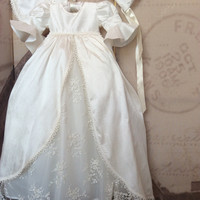 Jensen Christening boy or girl Royal Gown with Bonnet