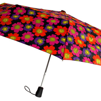 Totes Umbrella Flower Auto Open Large Rain Sun Travel Compact Mini Folds