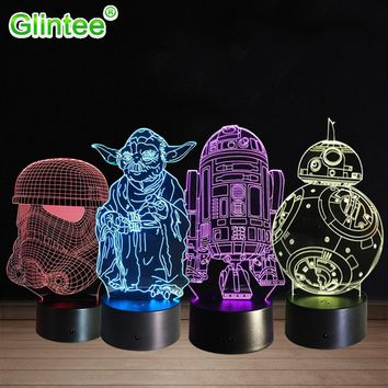 Star Wars Yoda 3D LED Acrylic Night Light