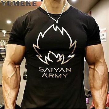 Men T-Shirts Fashion new Summer saints Style Short Sleeve Men t shirt home Solid Fitness High Quality men's T-shirt