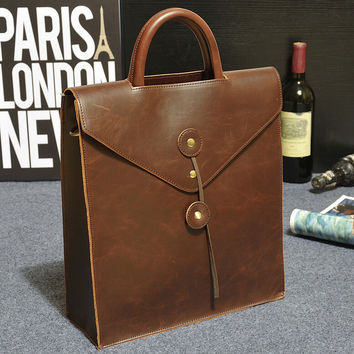 Casual messenger leather bag