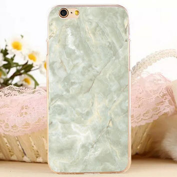 Light Green Marble Stone iPhone 7 7 Plus iPhone se 5s 6 6s Plus Case Cover + Gift Box