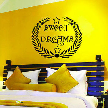 Wall Decals Quotes Sweet Dreams Decal Star Art Home Vinyl Sticker Decor MR539