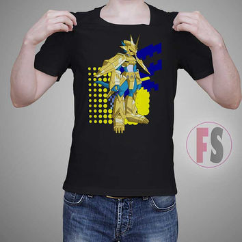 Magnamon Radiance of Miracles Holy Knight Digimon Vector Character AllukaArtTees Unisex Adult Tees