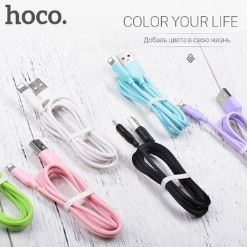 HOCO 2.4A Fast Charging USB Cable For Apple-Plug Charger For Apple iPhone iPad Data Cord for Mobile Phone Data Line Sync Wire