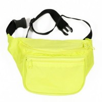 Blank Yellow Neon Party Fanny Pack | Unique Rave Accessories