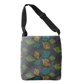 Graceful Leaves Pattern Tote Bag