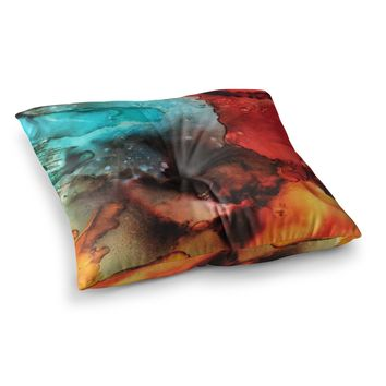 "Abstract Anarchy Design ""Birth Place Of The Heavens "" Multicolor Abstract  Square Floor Pillow"