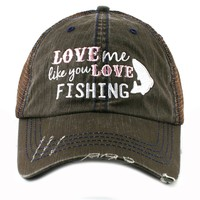 Katydid Love Me Like You Love Fish Season Western Women's Trucker Hat