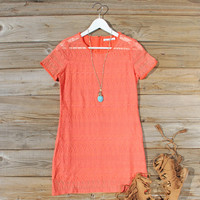 Lacey Tee Shirt Dress in Orange