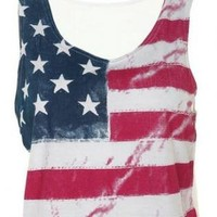 FLAG PRIDE FASHION CROP TOP