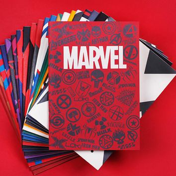 B5 40sheets Cartoon Planner Daily Students Writing Notebooks Marvel Movie Daily Memos Paiting Notepad School Notebooks Supplies