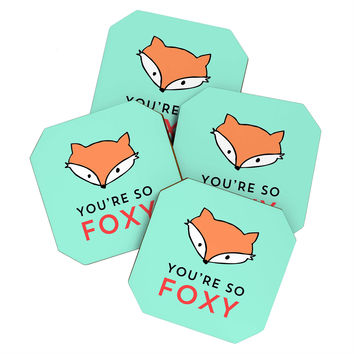 Allyson Johnson You are so foxy Coaster Set