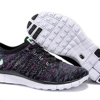 """""""Nike Zoom Fit Agility Flyknit5.0"""" Unisex Sport Casual Multicolor Weave Sneakers Couple Running Shoes"""