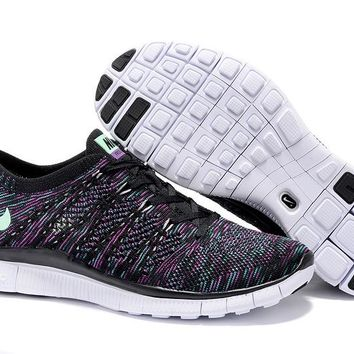 """Nike Zoom Fit Agility Flyknit5.0"" Unisex Sport Casual Multicolor Weave Sneakers Couple Running Shoes"