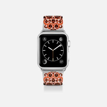 Halloween damask ikat transparent apple watch band Apple Watch Band (38mm)  by Sharon Turner | Casetify