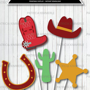 Centerpiece Printable, Cowboy Decorations,Wild West Theme,Cowboy Party,Cowboy Favor, Sheriff, Western, Decoration, DIY, INSTANT DOWNLOAD