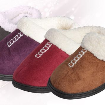 beverly rock women's faux suede clog slippers s-xl Case of 36