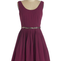 ModCloth Mid-length Sleeveless A-line Sage a Dance Dress in Berry