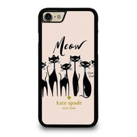 KATE SPADE MEOW CAT iPhone 4/4S 5/5S/SE 5C 6/6S 7 8 Plus X Case