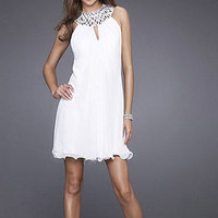 A-Line Halter Short Satin Tulle Cocktail Dress [dd2765] - $106.60 : buydressau.com!, discount wedding dresses sale