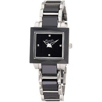 Kenneth Cole New York Women's KC4742 Petite Square Case with Ceramic Bezel Watch
