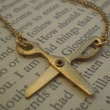 scissor necklace papercut by littlepancakes on Etsy