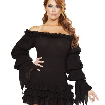Off Shoulder Pirate Dress with Ruffles