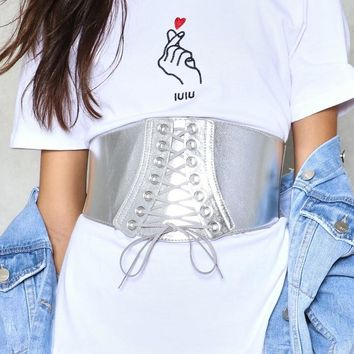Shine of the Times Metallic Corset Belt