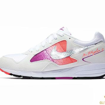 Nike Air Skylon II + Crystals - White/Solar Red