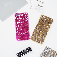 Fashion Victoria Spring Cover for iPhone 7 case 6s 6plusStylish 3D Crystalline Mirror Color Metal Girls Luxury Shinny Tinfoil -03129