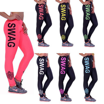 Sports Stylish Print Leggings [6358655364]