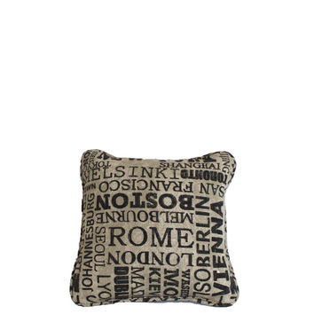"Little Cities 10x10"" Printed Cotton Pillow"