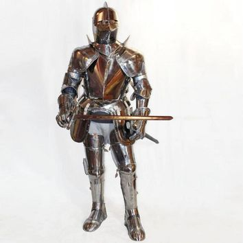 Warrior Cosplay Armor Stainless Steel Costume Knight Cavalier Costume