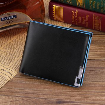 Casual Leather Bifold Wallet Card Holder