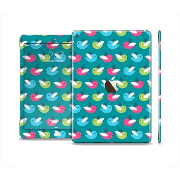 The Vibrant Colored Vector Bird Collage Skin Set for the Apple iPad Pro