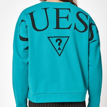 Guess Long Sleeve Crew Neck Sweatshirt at PacSun.com