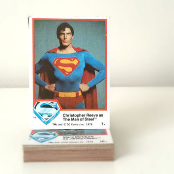 Superman Trading Cards Lot - DC Comics - 1970s and 80s Topps