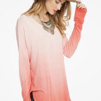 Passionate Pink Ombre Tunic Top